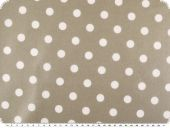 Coated cotton, dots, washable, beige, 140cm