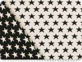 Deco jacquard, double-face, stars, ecru-black, 140cm