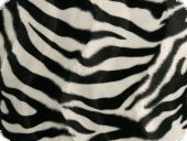 Animal fake fur, zebra, ca. 150cm