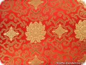 China Jacquard, floral pattern, red, ca. 90cm