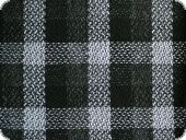 Jacket or costume fabric, checked, black white 146cm