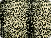 Knitware jersey, fur pattern, black-beige, 155cm