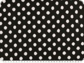 Knit fabric, jacquard, dots, black and white, 150cm