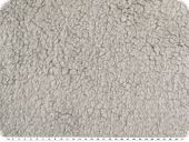 Teddy fabric, super fleece, light grey, 155cm