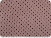 Dots-net fabric, soft touch, bordeaux, 145cm