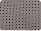 Dots-net fabric, soft touch, black, 145cm