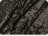 Elastic fabric with sewn on brown sequins, 130cm