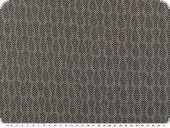 Knitted fabric with lurex , herringbone, black-silver, 162cm