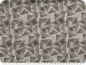 Knit stretch fabric with lurex, light grey, triangles, 145cm