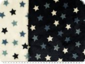 Fleece, stars, doubleface, lblue-white, 150cm