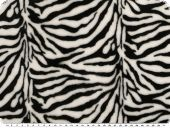 Superfleece, animal print, black-white, 150cm
