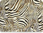 Viscose mousseline, animal print, tiger, light brown-white