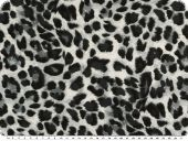 Viscose mousseline, animal print, leopard, grey, 140cm