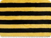 Superfleece, stripes, yellow-black, 150cm