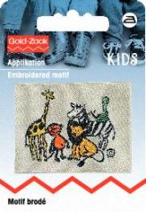 Embroidered motif, zoo, multicolour