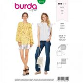 Burda pattern, blouse shirt ruffle shirt, size: 32-44