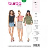 Burda pattern, tank top ruffle shirt, size: 34-44