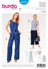 Burda Pattern, jumpsuit - top - pants, size: 34-46