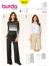 Burda pattern, pants - culotte, size: 36-50