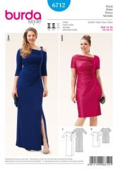 Burda pattern, evening dress, size: 44-58