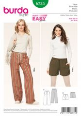 Burda pattern, pants with drawstring, size: 34-46