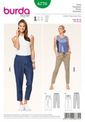 Burda pattern, pants, size: 36-46