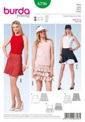 Burda pattern, skirt, size: 34-44