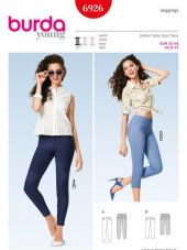Burda pattern, jeggings, size: 32-48