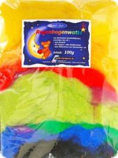Rainbow wad, 100g, multicoloured, synthetic