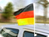 German flag, for your car, 45x30 cm