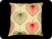 Pillow case, maple leaf, red, 45x45cm