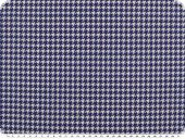 Leftover,  deco fabric, houndstooth, blue-white, 100x140cm