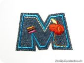 Funny jeans letters : M, fusible