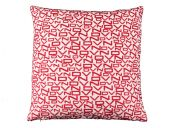 High-quality Pillow case, letters, red-violet, 50x50cm