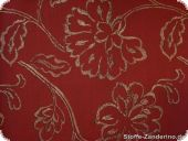 Highquality Decoration fabric, tendrils, red, ca. 160cm