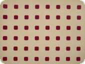 Nice deco fabric, dots, ecru-red,  280cm