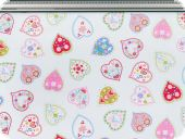 Deco fabric, hearts,light blue, 160cm
