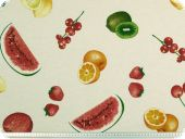 Highquality decoration fabric, fruits, multicolour, 140cm