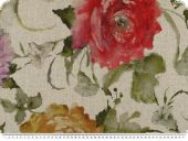 Nice deco fabric , flowers, digital print, multicolour,140cm