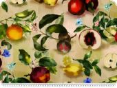 Decoration fabric, twill, fruits, multicolour, 160cm