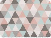 Nice deco fabric, triangles, pastel-multicolour, 140cm