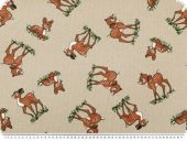 Nice deco fabric, Bambi, beige-brown, 140cm