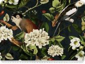 Digital deco fabric, flowers and animals, 140cm