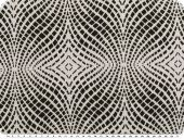 Jacquard deco fabric, 3D-effect, black and white