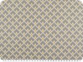 Deco fabric, scales, grey-gold, 160cm