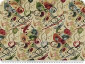 Deco-and upholstery fabric, 'Abstract', multicolour, 140cm