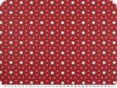 Cotton deco fabric,  coated, stars, red, 160cm