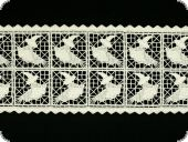 Beauty cotton-lace, white, 120mm