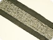 Sequin ribbon with pearls , silver, 70mm