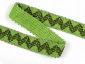 Inka-binding, braid, neon green, 33mm